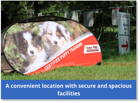 A convenient location with secure and spacious facilities
